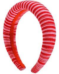 Missoni Haarreif Aus Viskosemischung Mit Lurexeffekt - Rot