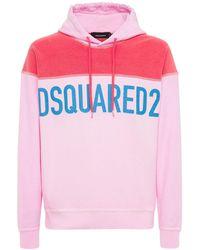DSquared² Свитшот Из Джерси С Принтом - Розовый