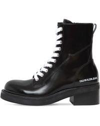 "Calvin Klein Кожаные Ботинки ""ebba"" 50мм - Черный"