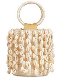 Sensi Studio X Loulou De Saison Shell-fringed Straw Bucket Bag - Natural