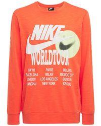 """Nike T-shirt Imprimé """"world Tour"""" - Orange"""