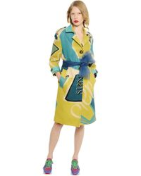 """Burberry Prorsum - Abrigo de tela de lino estampado """"Artwork"""" - Lyst"""