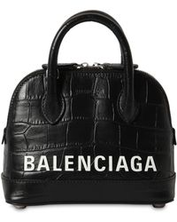 f9cb3881c Balenciaga Ville Xxs Pebbled Leather Top-handle Tote Bag in Black - Save  39% - Lyst