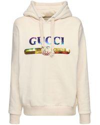 Gucci Hoodie Aus Baumwollfleece Mit Logo - Mehrfarbig