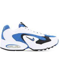 Nike - ホワイト And ブルー エア マックス トライアックス スニーカー - Lyst