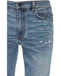 Amiri Jeans Aus Baumwolldenim Mit Farbspritzer - Blau