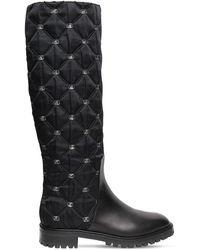 Alberta Ferretti Высокие Кожаные Сапоги 25mm - Черный