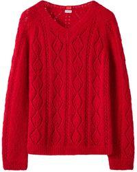 Loewe Suéter De Punto De Mezcla De Mohair - Rojo