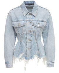 Alexander Wang Sculpted Pebble Bleach Denim Jacket - Blue
