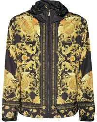 Versace Jeans Couture Baroque フーデッドジップアップジャケット - メタリック