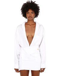 """Jacquemus Рубашка Из Вискозы """"la Chemise D'homme Classic"""" - Белый"""