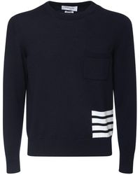 Thom Browne ウールニットセーター - ブルー