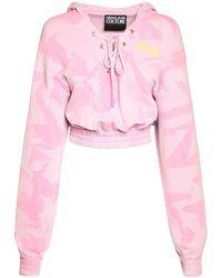 Versace Jeans Couture Свитшот Из Флиса С Капюшоном - Розовый