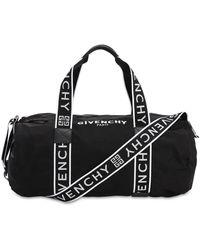 Givenchy Bolso Duffle De Nylon Con Logo - Negro