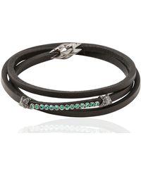 Tomasz Donocik Diamond Stars Bracelet - Black