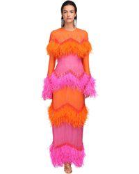 The Attico Платье Из Крепа С Пайетками - Многоцветный