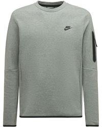 Nike Tech Essential Fleece Crew Sweatshirt - Grey