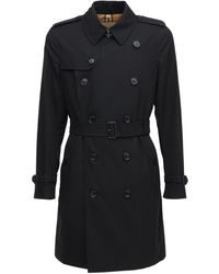 Burberry Mittellanger Heritage-Trenchcoat in Kensington-Passform - Schwarz