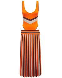 Gabriela Hearst Трикотажное Платье Из Шерсти - Оранжевый