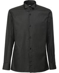 Balmain - Camisa De Algodón Con Plastrón - Lyst
