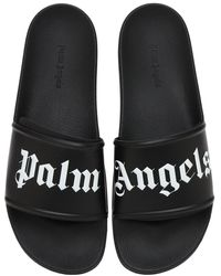 Palm Angels Logo-print Slides - Black
