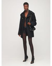 Tom Ford Double Breasted Cashmere Peacoat - Black