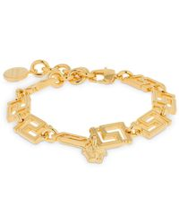 Versace Greek Motif Bracelet - Metallic