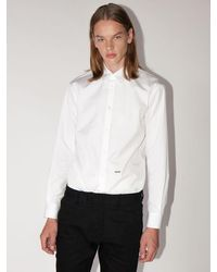 DSquared² Lvr Exclusive Relaxed Dan Cotton Shirt - White