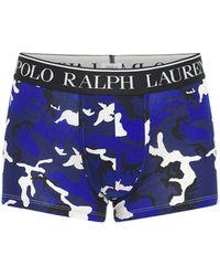 Polo Ralph Lauren Трусы-боксеры Из Хлопка С Принтом - Синий