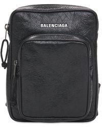 Balenciaga Umhängetasche Aus Leder Mit Logo - Schwarz