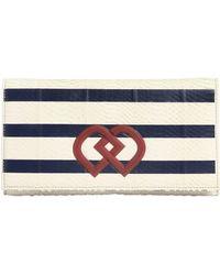 DSquared² Dd Striped Snakeskin Clutch - Blue