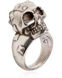 Alexander McQueen - Studded Skull Ring - Lyst