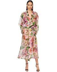 Dolce & Gabbana - Тренчкот Из Шелковой Органзы - Lyst