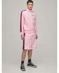 Palm Angels Спортивные Шорты С Принтом - Розовый