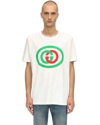 Gucci - Ggインターロックロゴ コットンtシャツ - Lyst