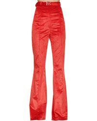 Nina Ricci - High Waisted Flared Corduroy Trousers - Lyst