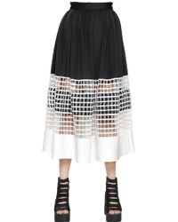 Natargeorgiou - Neoprene & Cotton Net Skirt - Lyst