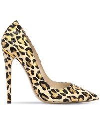 Ernesto Esposito - 115mm Leopard Printed Leather Court Shoes - Lyst