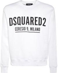 """DSquared² Sweatshirt Aus Baumwolljersey """"ceresio 9"""" - Weiß"""