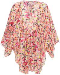 Stella McCartney - Floral コットンボイルミニドレス - Lyst