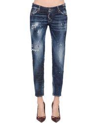 DSquared² Jeans Jennifer In Denim Di Misto Cotone - Blu