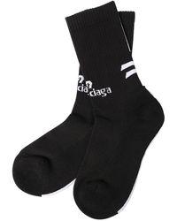 Balenciaga - Logo Jacquard Cotton Blend Crew Socks - Lyst
