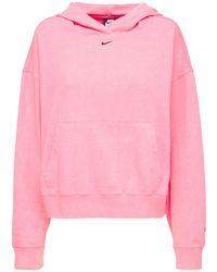 Nike Gewaschener Hoodie - Pink