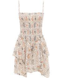 Étoile Isabel Marant Платье Из Хлопка С Принтом - Белый
