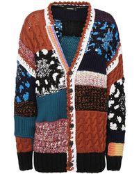 DSquared² Patchwork Wool Blend Cardigan - Multicolour