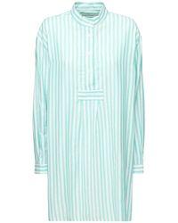 The Sleep Shirt コットンツイルパジャマシャツ - グリーン