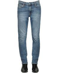 Calvin Klein Jeans Slim De Denim De Algodón - Azul