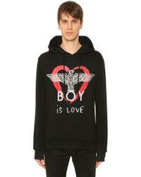BOY London Kapuzensweatshirt Mit Boy Is Love-druck