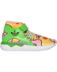 9c72268f9fcb Jeremy Scott for adidas - JS Tubular Floral Mid Top Trainers - Lyst