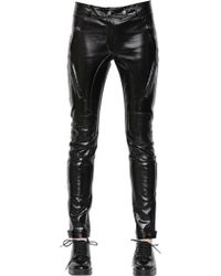 Each x Other Coated Vinyl & Stretch Leather Pants - Black
